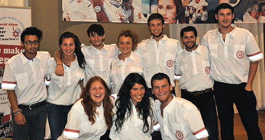 2012 Australian Volunteers for MDA Israel L-R (Top row): Doron Chester, Sarah Bookman (from New Zealand), Ari Friedgut, Andrea Le Bransky,Alexander Lips, Daniel Serebro (Bottom Row): Georgia Lange, Ashlee Chapman, Nathan Orenstein