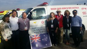 NSW donates ambulance and 23 medicycles to MDA Israel